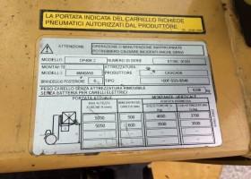 targhetta carrello DP 40K2