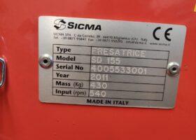 Targhetta della Fresatrice Sicma SD 155 nuova