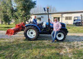 Immagine dell'articolo Consegna trattore New Holland e attrezzature agricole ad Animagricola