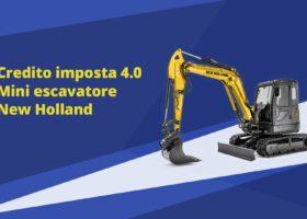 Immagine dell'articolo Credito d'imposta 4.0 mini escavatore New Holland